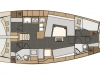Elan 45 Impression - Layout. Garant Charter, Marina Punat